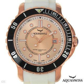 Aquaswiss Rugged Collection Mens Date Watch   Swiss Movement and White Rubber Band   model RU0996 at  Men's Watch store.