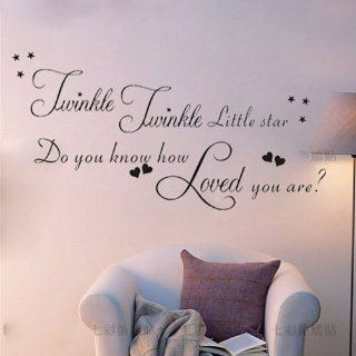 Twinkle Twinkle little star Do you know how loved you are Wall Sticker Decal   Wall Decor Stickers