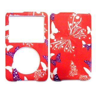 Hard Plastic Snap on Cover Fits Apple iPod Classic Butterfly Dot/Hot Pink (Fits iPod Classic 80G only. Doesn't fit iPod Classic 120G) Cell Phones & Accessories