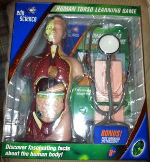 Edu Science Human Body Learning Game with Bonus Stethoscope Toys & Games
