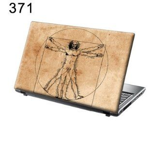 TaylorHe 15.6 inch 15 inch Laptop Skin Vinyl Decal with Colorful Patterns and Leather Effect Laminate MADE IN BRITAIN Da Vinci Vitruvian Man Computers & Accessories