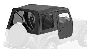 Bestop® 54713 35 Black Diamond Supertop® Classic Replacement Soft Top with Tinted windows  2 pc full doors  1997 2006 Jeep Wrangler (except Unlimited) Automotive