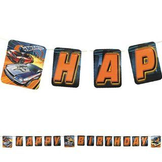 Hot Wheels Happy Birthday Kid's Birthday Party High Speed Letter Banner 8ft Toys & Games