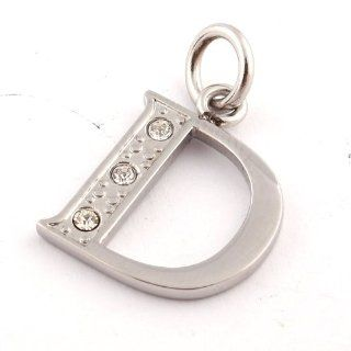 Love Necklace Letter D & Cz Diamond Pendants Necklaces for Women 316 Stainless Steel Necklaces for Men Charms Fashion Wedding Jewelry Pendants Unique Fashion Jewelry 50084 Jewelry