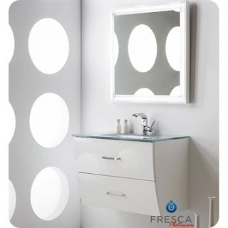 Fresca Platinum Wave 32 Glossy White Modern Bathroom Vanity