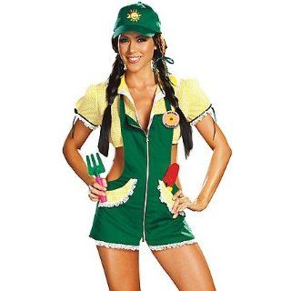 Dreamgirl Women's Garden Ho Sexy Garden Costumes For Women M Green/Yellow Clothing