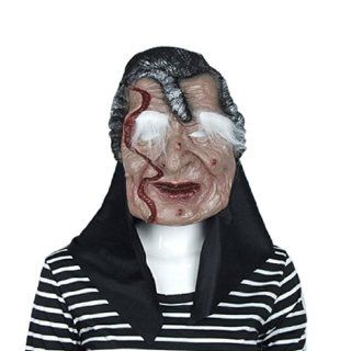Halloween Mask Scar Face White Eyebrow Witch for Party Dress Toys & Games