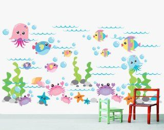 Marine Life Sea Wall Decal Stickers Baby