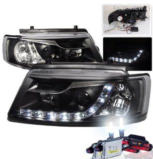 High Performance Xenon HID Volkswagen Passat 4/5D R8 Projector Headlights with Premium Ballast (Black Housing w/ Clear Lens & 8000K HID Lighting Output) Automotive