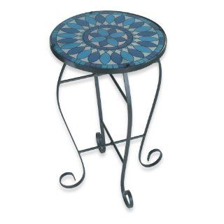 Royce RF59C/BK Home Accents Indoor/Outdoor Lighted Table Blue Quill Pattern