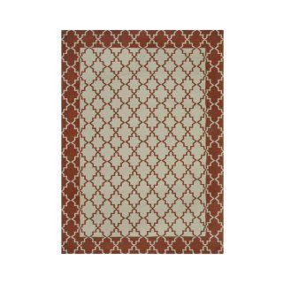 JCP Home Collection  Home Selma Indoor/Outdoor Rectangular Rug, Taupe/rust