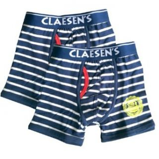 Boy's Fire Fighter Blue and White Striped Boxer Briefs (Age 4 (Height 41 44 inches)) Clothing