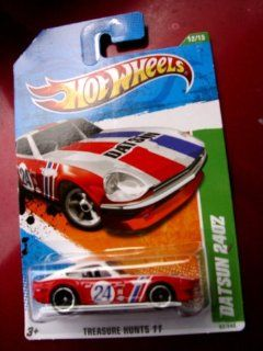 "TREASURE HUNT Hot Wheels 2011 ''DATSUN 240Z"" TREASURE HUNT '11   12 of 15   62/244 Red & White with #24 Racecar Decal on Door & DATSUN in bold black letters across hood Toys & Games"