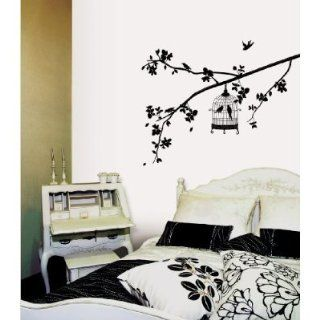 (20x28) Parisian Spring   Bird in Tree Silhouette Repositional Wall Decal   Prints
