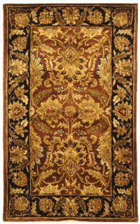 Safavieh CL239A 4 Classics Collection Handmade Gold Wool Area Rug, 4 Feet by 6 Feet   Wool Rust Rug Safavieh
