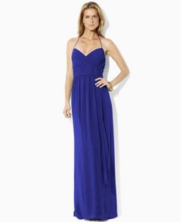 Lauren by Ralph Lauren Dress, Sleeveless Halter Gown   Dresses   Women
