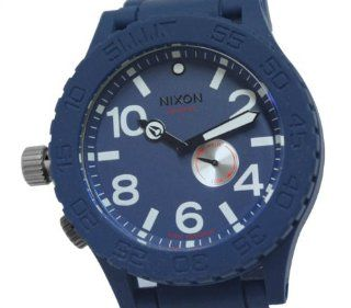 Men Nixon A236 307 Dress Stainless Steel Case Blue Tone Dial Blue Rubber Strap 3 Watches