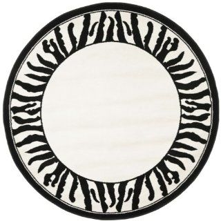 Safavieh Lyndhurst Collection LNH227A Black and White Round Area Rug, 5 Feet 3 Inch   Runners