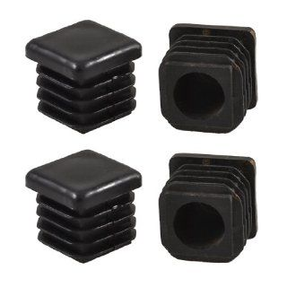 Amico 19mm x 19mm Plastic Square Tube Inserts End Blanking Caps Black 5 Pcs   Decorative Hanging Ornaments