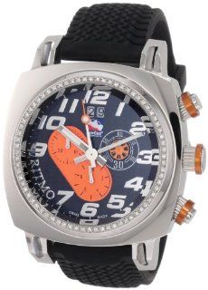 Ritmo Mundo Men's D221/1 Orange Diamond Indycar Sport Quartz Chronograph Watch Watches