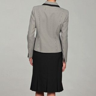 Evan Picone Women's Ivory/ Black Three button Skirt Suit Evan Picone Skirt Suits