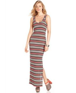 French Connection Dress, Sleeveless Scoop Neck Striped Maxi   Dresses   Women