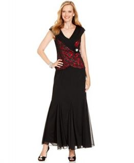 Patra Dress, Cap Sleeve Sequin Brooch Pleat Gown   Dresses   Women