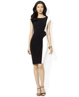Lauren Ralph Lauren Sleeveless Colorblocked Sheath Dress   Dresses   Women