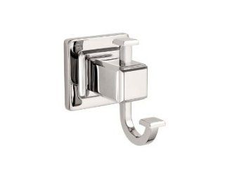 Pfister BRHWE1D Polished Nickel Carnegie Carnegie Robe Hook with 2 Hooks and Concealed Mounting BRH WE1   Bath Towel Hooks