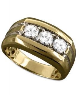 Mens 14k White Gold Diamond Band Ring (1 ct. t.w.)   Rings   Jewelry & Watches