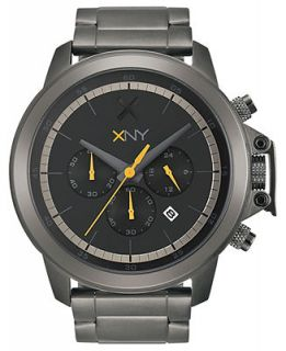 XNY Watch, Mens Chronograph Urban Expedition Gray Ion Plated Stainless Steel Bracelet 48mm BV8039X1   Watches   Jewelry & Watches