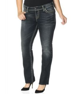Silver Jeans Plus Size Suki Bootcut Jeans, Medium Wash   Jeans   Plus Sizes