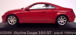 Nissan Skyline Coupe 350GT (Infiniti G35) Red 1/43 Scale Diecast Model Toys & Games