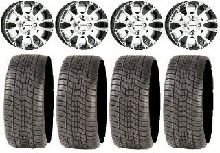 "STI C7 Black Golf Wheels 12"" 205x30 12 Tires EZ GO/Club Car (4) Automotive"