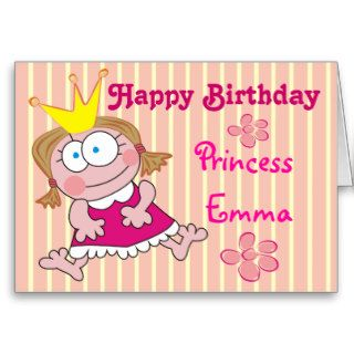 Happy Birthday Princess Emma Cute Greeting Cards