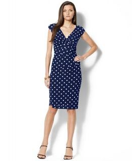 Lauren Ralph Lauren Cap Sleeve Polka Dot Dress   Dresses   Women