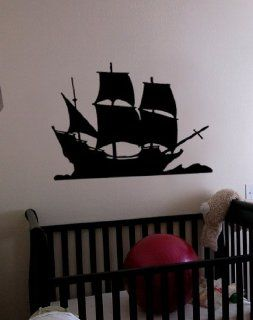 "Vinyl Wall Art Decal Sticker Pirate Ship Decor2 21""x29"" #197   Automotive Decals"