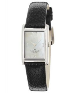 Emporio Armani Watch, Womens Black Leather Strap 30x22mm AR7332   Watches   Jewelry & Watches