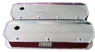 Proheader PV195   BBC Chevy Polished Aluminum Fabricated Valve Covers Automotive
