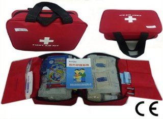 199 Pcs First Aid Kit Emergency Bag Home Car Outdoor Red Cross Guide Set Bag B09 Health & Personal Care