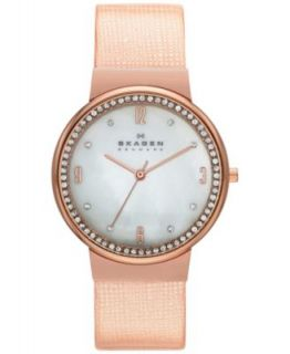 Skagen Denmark Womens Rose Gold Tone Stainless Steel Mesh Bracelet Watch 34mm SKW2130   Watches   Jewelry & Watches