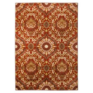 Threshold Medallion Area Rug   Red (7x10)