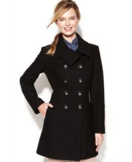 Anne Klein Double Breasted Wool Blend A Line Coat   Coats   Women