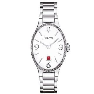 Bulova 96R192 Watch Diamond Gallery Ladies   White Dial Stainless Steel Case Quartz Movement at  Women's Watch store.