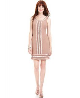 Adrianna Papell Dress, Sleeveless Beaded Sequined Cocktail Dress   Dresses   Women
