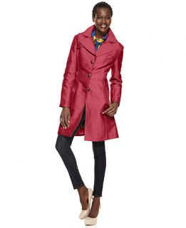 Kenneth Cole Reaction Wide Collar Sateen Raincoat   Coats   Women