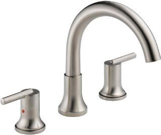 Delta Faucet T2759 Trinsic, 3 hole Roman Tub Trim, Chrome   Tub And Shower Faucets