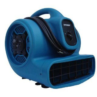 XPOWER X 400A 1/4 HP 1600 CFM 3 Speed Air Mover with Dual Outlets for Daisy Chain, 3.0 Amp