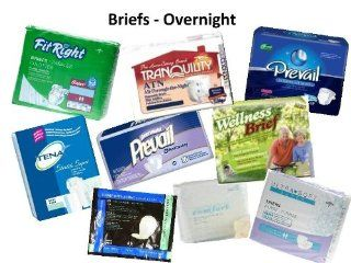Samples of Adult OVERNIGHT Briefs by The Diaper Piper Health & Personal Care