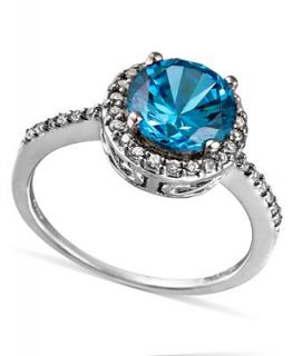 B. Brilliant Sterling Silver Ring, London Blue Cubic Zirconia Ring (5 1/5 ct. t.w.)   Rings   Jewelry & Watches